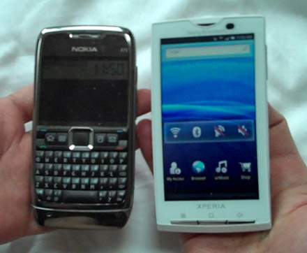 x10-compare Hands on: Sony Ericsson Xperia X10 Android smartphone