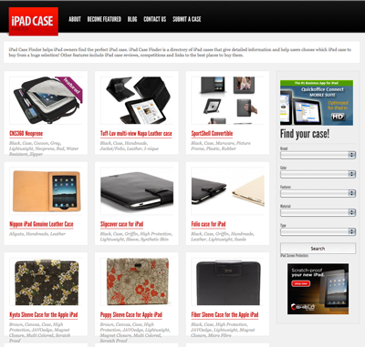 ipad-case-finder Website aims to find the best iPad case for you