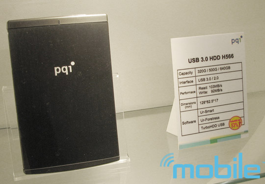 pqi-kwan 103MB/sec claimed with PQI TurboHDD USB 3.0 portable hard drive