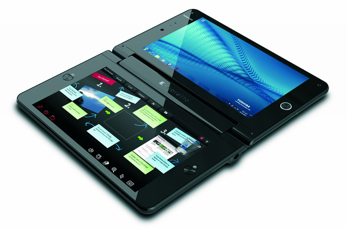 toshiba-libretto-tablet Dual screen tablet concept by Toshiba takes a page out of Microsoft's Courier project