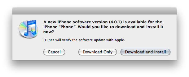 ios4.0.1-update iOS 4.0.1 update for iPhone and iOS 3.2.1 for iPad on the way