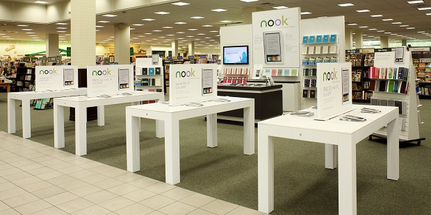 nook-displays Barnes & Noble to ramp up Nook display just days after new Kindle release
