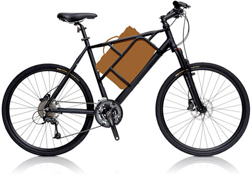 tata-bike-01 Tato commuter bike stowes a laptop between your legs