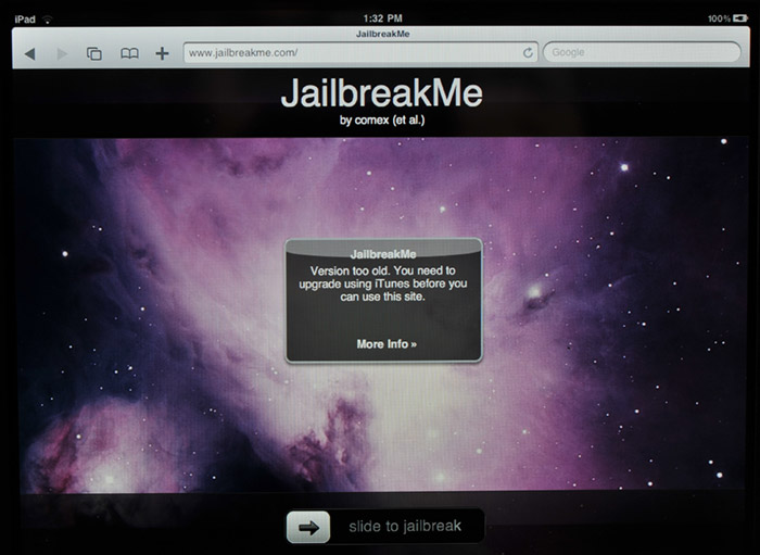 jailbreakme-broken  JailbreakMe broken: Apple updates iPhone, iPad iOS to thwart PDF vulnerability