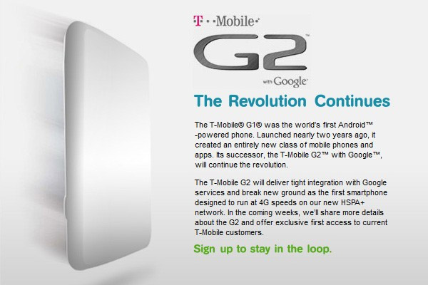 tmo-g2 T-Mobile teases at G2 HSPA + smartphone with Android