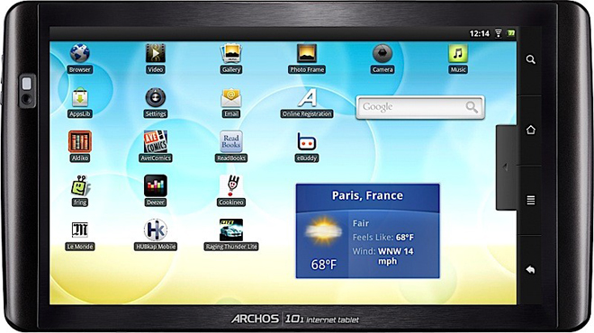 archos.android.10-tablet Archos drops 5 Android tablets, even a $100 unit
