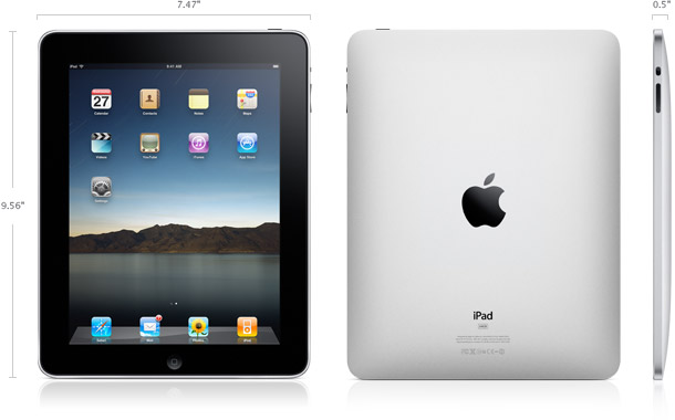 ipad-dimensions Seven superior tablets you can buy in 2010