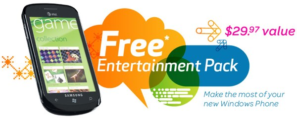 att-zune-winphone-1 Windows Phone 7 incentives give some a free Xbox and others a Zune Pass