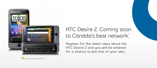 htc-desire-z-bell HTC Desire Z Android phone bound for Bell Canada