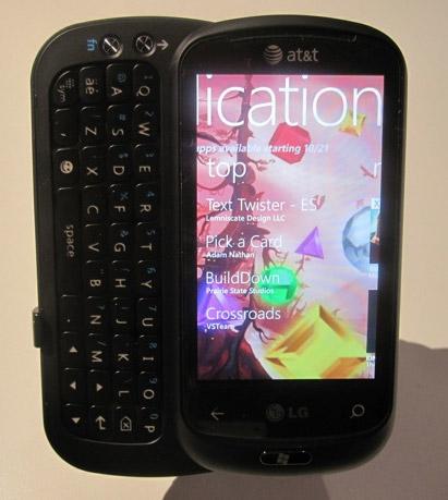 lg-quantum AT&T offers LG Quantum, HTC Surround to Windows Phone 7 line