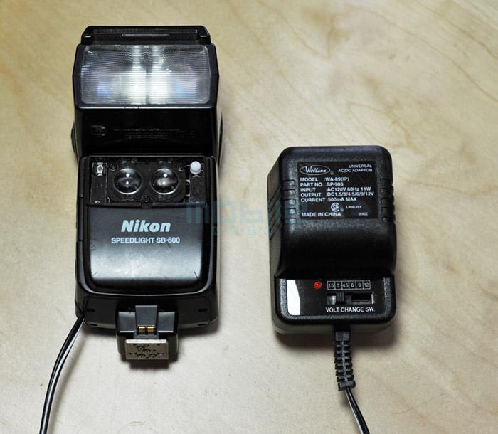 mod-sb600-05 Nikon SB-600 Flash AC/DC power modification