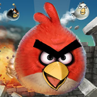 angrybirds-wp7  Windows Phone 7 getting hit with airborne Angry Birds
