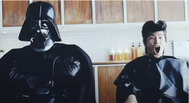 darthvader-nttdocomo  Galaxy S promoted by Darth Vader in Japan