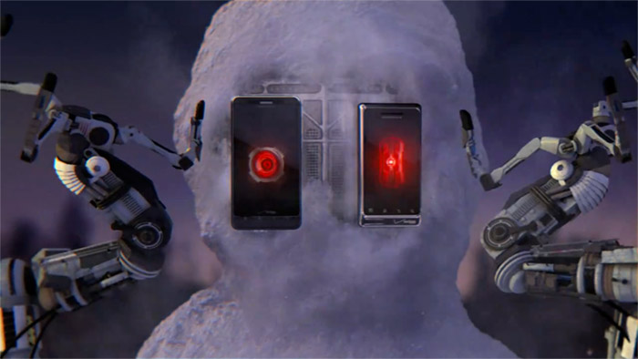 droidx-snowman Droid 2, Droid X Snowbot commercial from Verizon shows Android's dark side (Video)