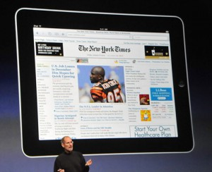 ipad-newspaper-reader-300x244 iOS 4.3 update with media app subscriptions in December