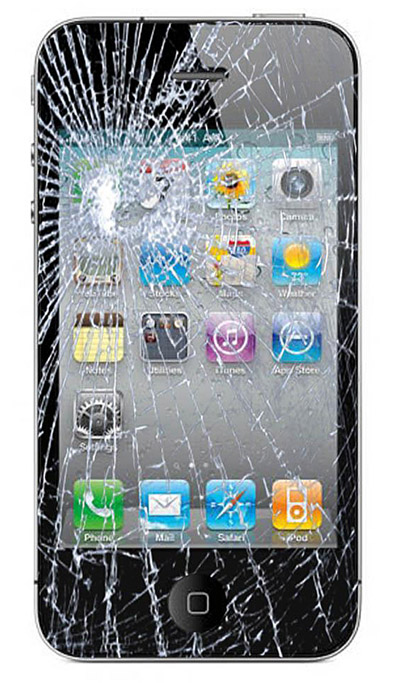 iphone4-brokenglass iPhone 4 is the most fragile phone yet