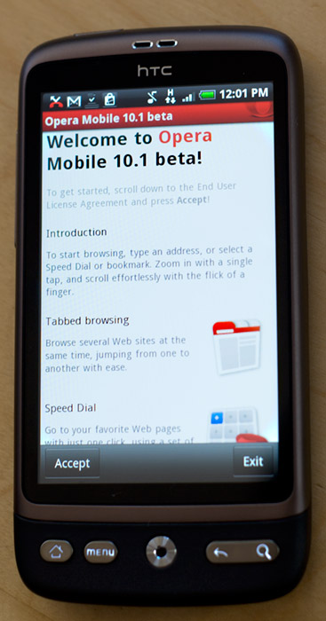 operamobile10.1 Opera mobile 10.1 beta released on Android