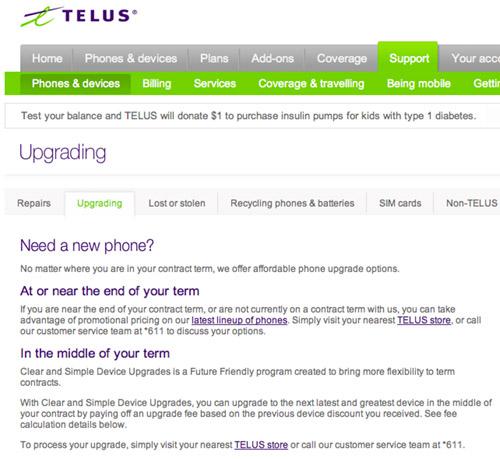 telus-upgrades Early Device Upgrade Fee (EDUF) introduced at Telus