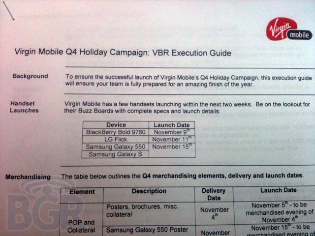 virgin-blackberry  Samsung Galaxy S, BlackBerry Bold 9780 enroute to Virgin Mobile Canada
