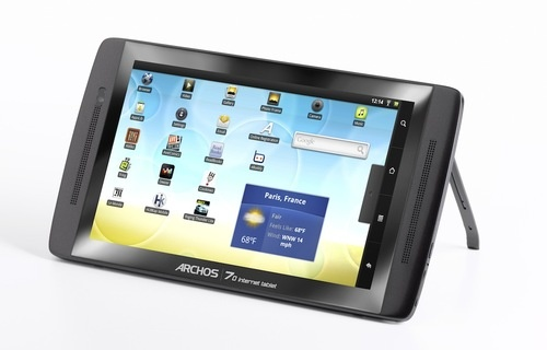 500x_archos_70_it_bequille Archos 70 Internet tablet with Android, 250GB hard drive