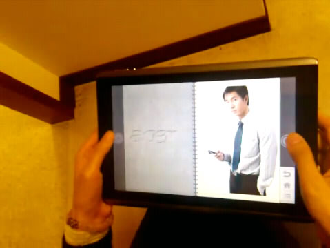 acertabletui Preview videos: Acer Android tablet with gyroscope demo