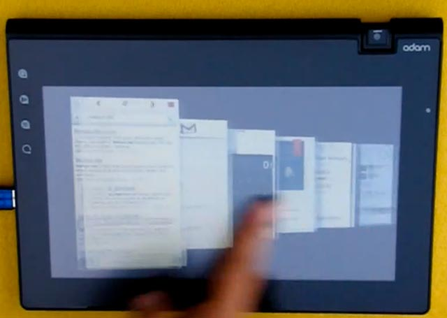 adam-tablet-ui Real world videos of Notion Ink Adam tablet: Insane multitasking in action