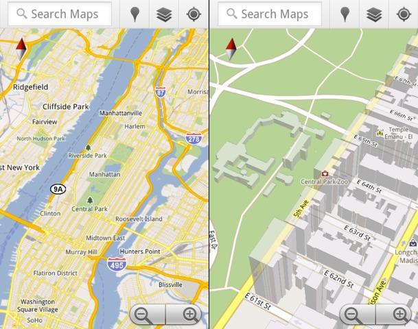 google-maps-5-zoom Google Maps 5 adds 3D vectors
