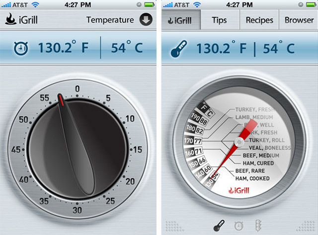 igrill-app iGrill turns your iPhone into a meat thermometer