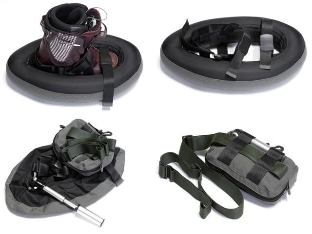 anyexit-snowshoe Inflatable snowshoes for those unexpected walks through deep powder