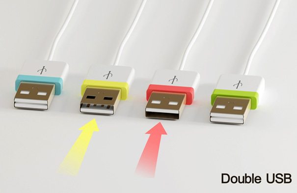 double_usb5 Double USB concept means you'll never have to stab twice