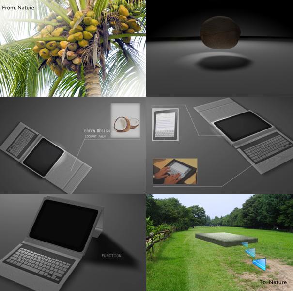 econut2 Econut biodegradable iPad case concept