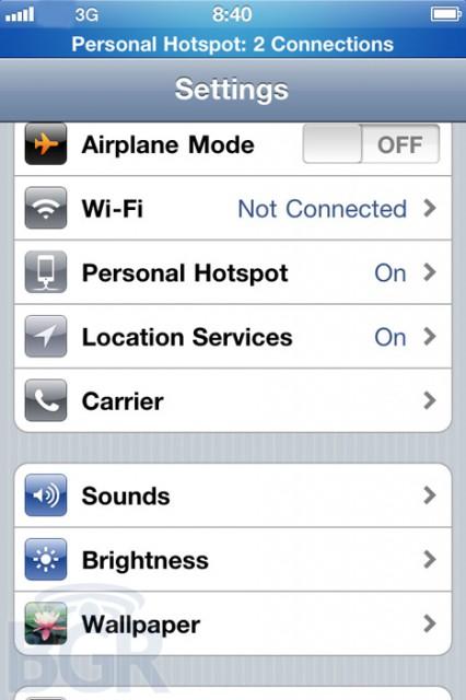 iPhone-hotspot-426x640  Apple iOS 4.3 to push personal hotspot onto all iPhones