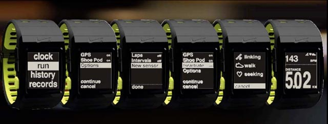 nike-sportwatch-screens The Nike+ sportwatch GPS will nag you into shape