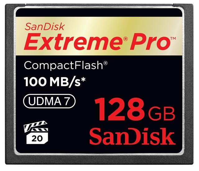 sandisk-extreme-pro-128gb SanDisk the enabler: 100MBps 128GB CompactFlash cards
