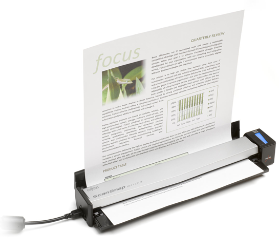 scansnap-s1100 Fujitsu ScanSnap S1100: The one-inch thick ultra-mobile scanner