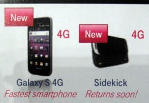 sidekick4g T-Mobile to release Samsung S 4G and Sidekick 4G soon