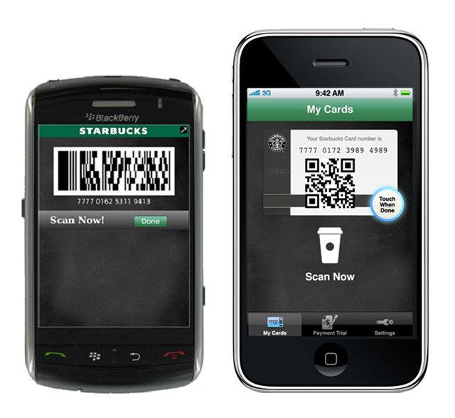 starbucks-payments Starbucks mobile payments roll out with barcodes, not NFC