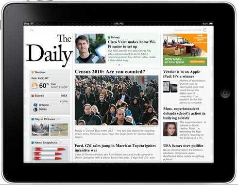thedaily-mockup  The Daily iPad-only newspaper by Newscorp launches next week