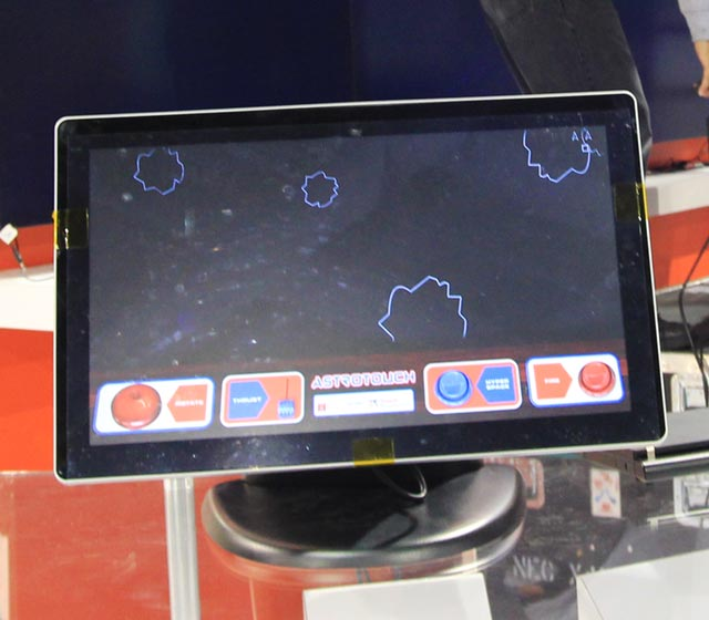 touchrev-21 Astrotouch asteroids game shown off with Touch Revolution TRū Touch Monitor