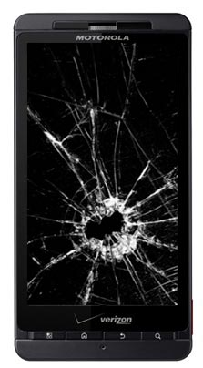 droid-x-broken-screen How to replace the Motorola Droid X Digitizer
