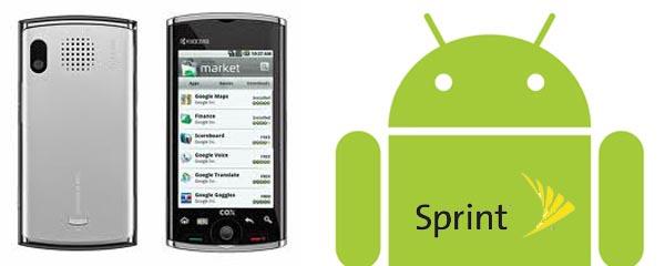 kyocera Kyocera Echo Android phone at Sprint event today
