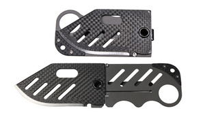 medium_knifeeeeefight Folding Credit Card Knife Returns in Carbon Fiber Form