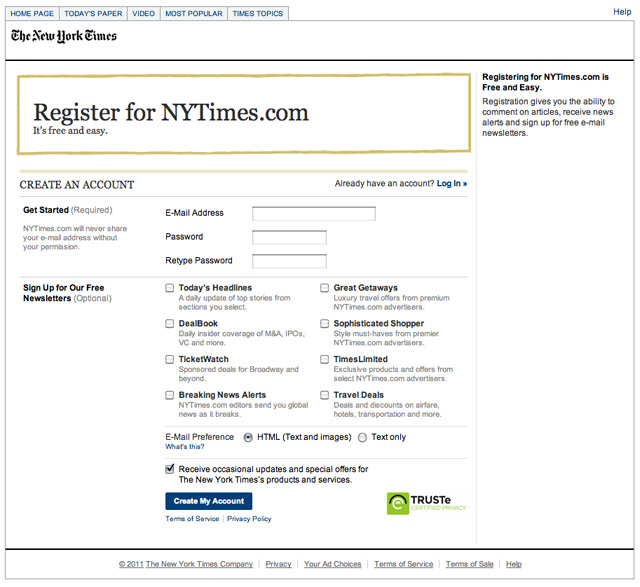 nytimes-paywall 'Backdoor' Found to Easily Circumvent NYT $40M Paywall