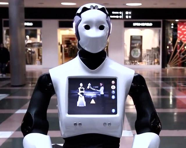 pal-robotics  REEM-H2 Multi-Functional Mall Bot Precedes C-3PO