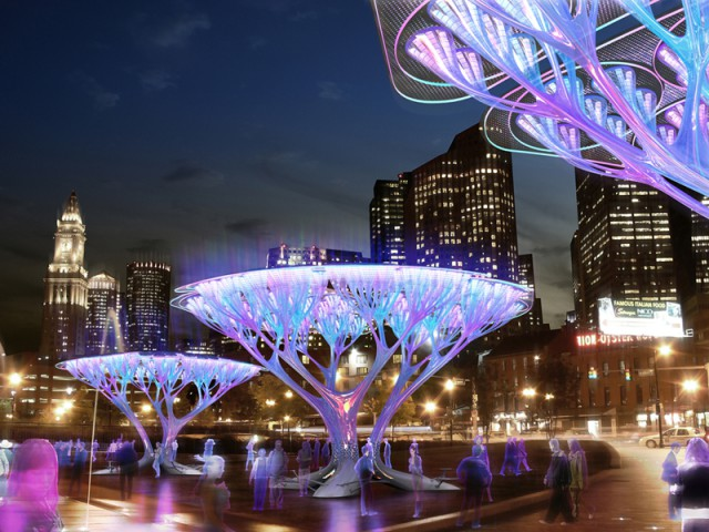 treepod-640x480 CO2 Scrubbing Fake Trees Might Roll In To Boston
