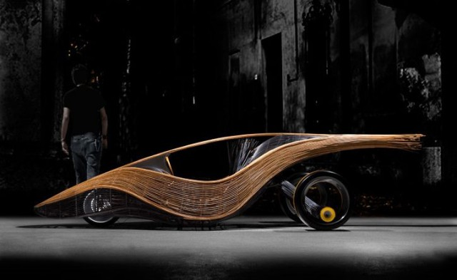 biodegradablecar-640x393  Biodegradable Phoenix Concept Car Made of Bamboo and Rattan