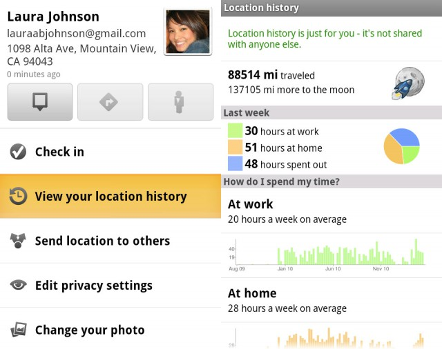 google-android-gmaps-640x506  Check In at Home and Track History with New GMaps for Android