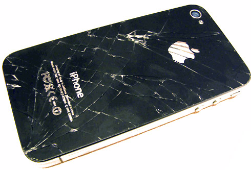 iphone4-glass-back-broken Replace Your iPhone 4 Glass Back for $29 at Apple Stores
