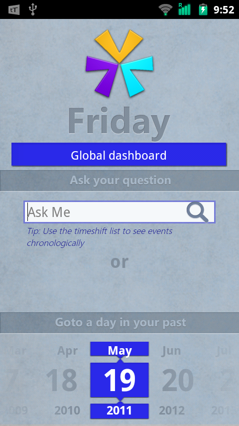 screenshot Friday Android App Knows What You Did Last Night
