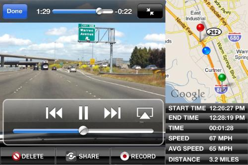 SCREENSHOT-90-1307020538MR DashCam: The iPhone BlackBox App For Your Car
